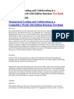 Management Leading and Collaborating in a Competitive World 12th Edition Bateman Test Bank