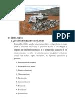 Práctica 8 -  Visita a la planta de tratamiento de residuos sólidos de Cajamarca