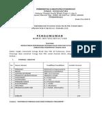 Penerimaan Pegawai Blud Non Pns Di Puskesmas Kabupaten Ponorogo Tahun 2018