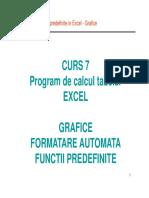 Curs 7 S1 - Program de Calcul Tabelar EXCEL