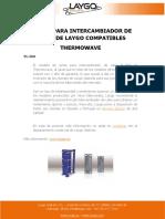 JUNTAS PARA INTERCAMBIADOR DE CALOR DE LAYGO COMPATIBLES THERMOWAVE