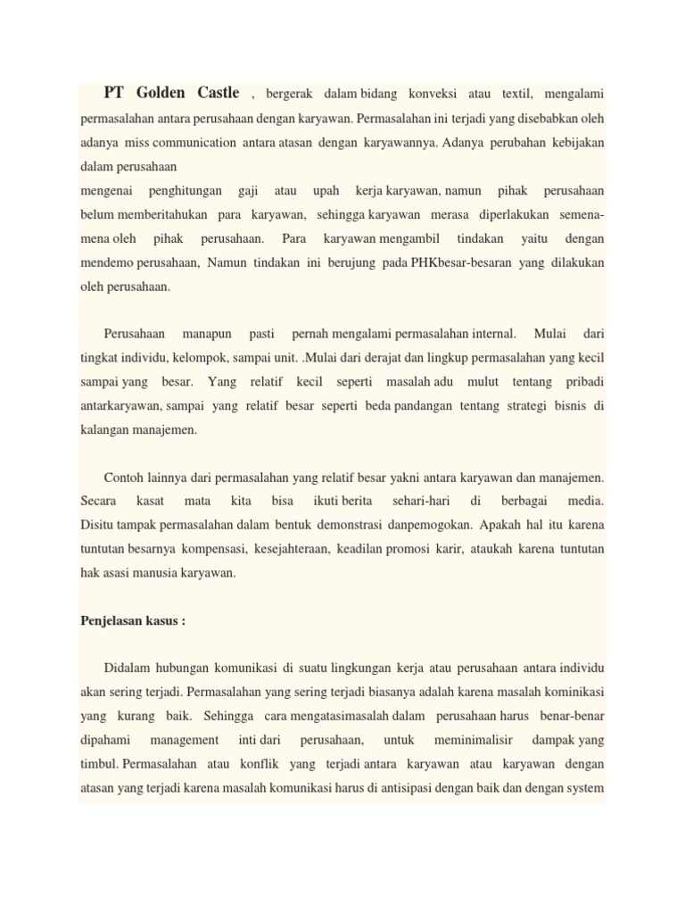 Contoh Kasus Komunikasi Bisnis Di Indonesia