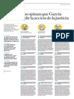 Especialistas Opinan Que García Trató de Evadir La Justicia