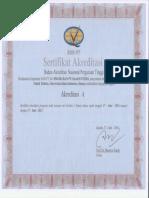 Sertifikat Akreditasi a Teknik Elektro FTI UII