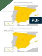 Mapa de Capitales de Las Comunidades Autónomas de España