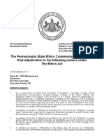 Pennsylvania State Ethics Commission findings for Rep. David Zimmerman