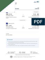 Ticket Sxr-hyd 06 Nov