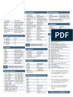 Python Cheat Sheet v1
