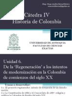 Unidad 6 La 'Regeneración' Intento de formación de un estado-nación