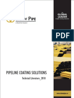 Pipeline coating solution