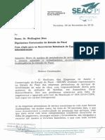Ofício do Sindicato das Empresas de Asseio e Construção do Estado do Piauí (Seac-PI)