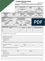 Formulario de Examen Preocupacional