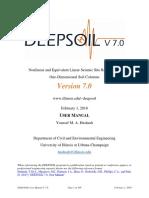 Deepsoil User Manual v7