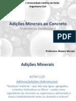 Adições Minerais para Concretos