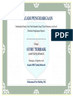 Certificate of Recognition for Administrative Professional Asli