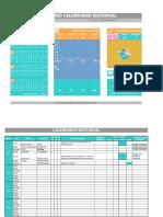 calendario editorial + dashboard