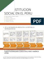 La Constitucion Social en El Peru