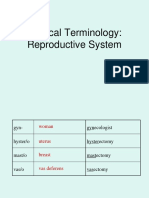 medical terminology- reproductive system