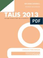 Informe TALIS 2013