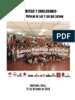 Síntesis Encuentro Popular de Las y Los que Luchan