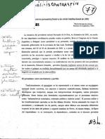 El Discurso Peronista Frente a La Crisis Institucional de 2001