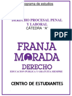 Derecho Procesal Penal y Laboral .