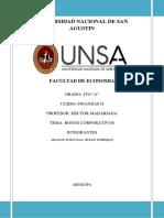 BONOS CORPORATIVOS (UNSA)