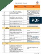 Robot Reliability Checklist