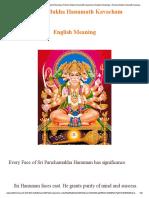 287853668 Pancha Mukha Hanumath Kavacham English Meaning Pancha Mukha Hanumath Kavacham in English Meanings Pancha Mukha Hanumath Kavacham Sri Panchamukha