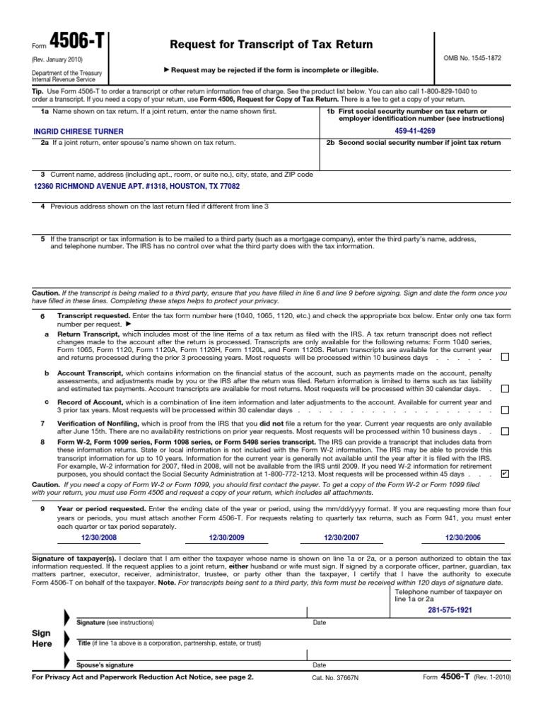 F4506t irs tax forms internal revenue service falaconquin
