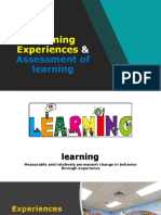 Learning Experiances & Assessment of Learning