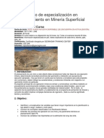Curso de Especialización en Planeamiento en Minería Superficial