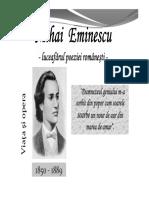 Viata Si Activitatea Lui Mihai Eminescu