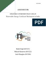 Renewable Energy Certifactes in India - En 504, IIT Mandi