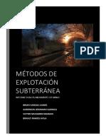 Métodos de Explotación Subterránea