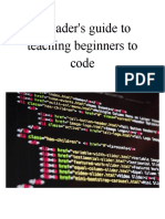 a readers guide to teaching beginners to code