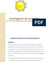Investigación de Accidente