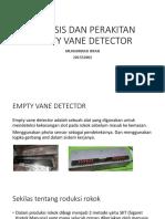 Analisis Dan Perakitan Empty Vane Detector