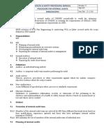 4-Procedure for Internal Audits