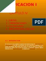 Edificacion i -Cap IV - Cimentaciones