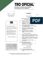 Registro Oficial 802 del 3 Octubre 2012 Creación Reserva Marina El Pelado