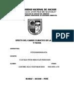 EFECTO DEL CAMBIO CLIMÁTICO EN LA FLORA Y FAUNA