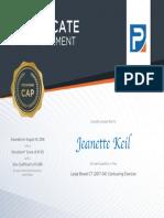 bowel certificate