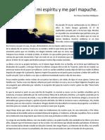 Pewu Relato de Amor Mapuche
