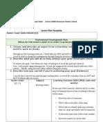 lesson plan morning assambly- semester 6