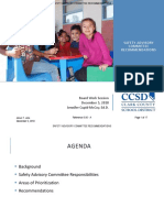 CCSD SAFETY ADVISORY COMMITTEE RECOMMENDATIONS