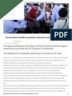 13-10-2018 Anuncia Héctor Astudillo más apoyos y obras para Arcelia.