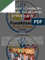Petroalianza - Fundalianza y Fundación Sura Donan 180 Bicicletas a Niños Wayuu