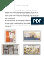 reflection about morning assembly-semester 6