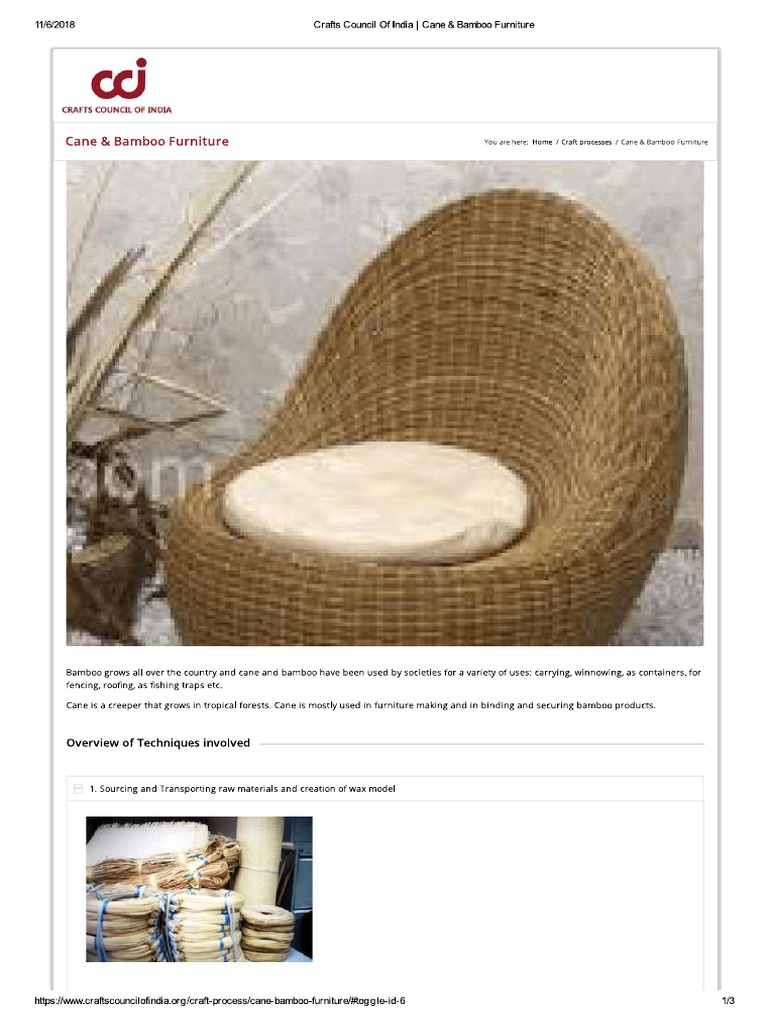 Cane And Bamboo Furniture Pdf